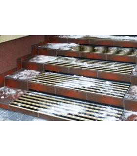 Hliníková protiskluzová rohož na schody