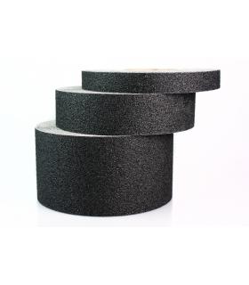 Protiskluzová páska odolná chemikáliím 25mm x 18,3m - jenmozrnná, černá