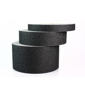 Protiskluzová páska odolná chemikáliím 100mm x 18,3m - jemnozrnná, černá