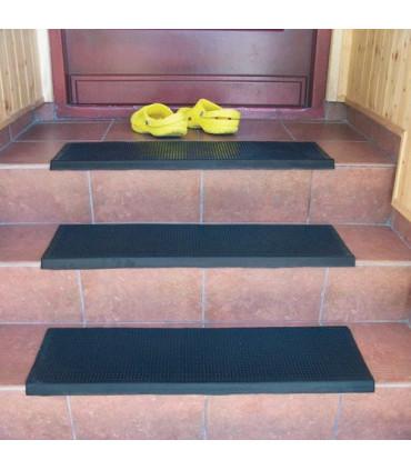 Gumová schodová rohož s lepícími proužky