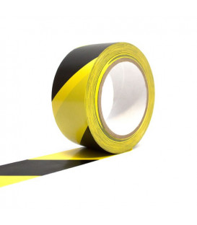 Žlutočerná vyznačovací podlahová páska 100 mm x 33 m