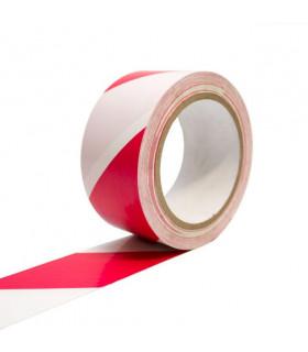 Červenobílá bariérová výstražná páska