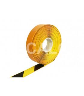 Extra odolná značkovací páska s nájezdovou hranou šrafovaná - hladká