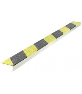 Protiskluzový bezpečnostní profil na hranu schodu - nerez ocel