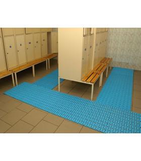 Protiskluzová plastová rohož modrá